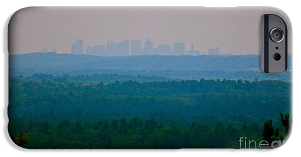 Boston Ma iPhone Cases - Boston Skyline in the distance iPhone Case by Deena Withycombe