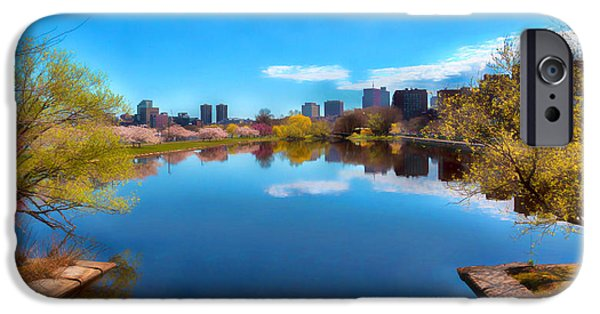 Boston Ma iPhone Cases - Boston Storrow Drive Lagoon iPhone Case by Larry  Richardson