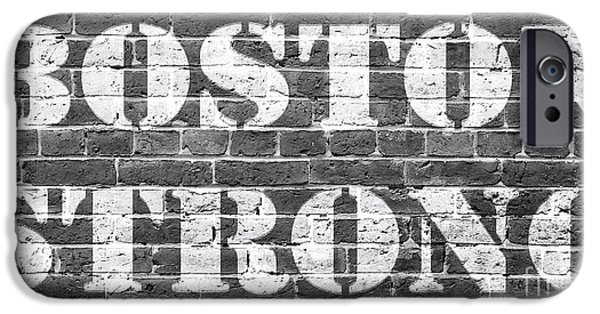 Boston Ma Photographs iPhone Cases - Boston Strong iPhone Case by Edward Fielding