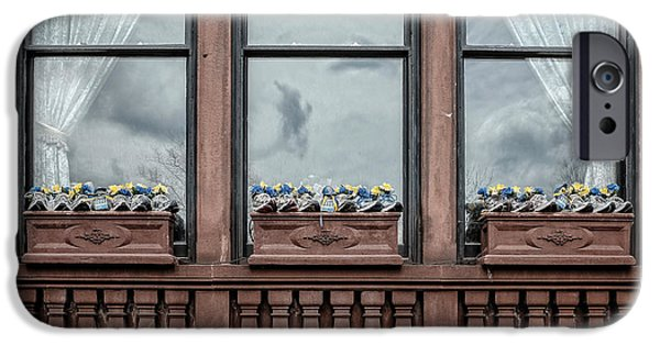 Back Bay iPhone Cases - Boston Strong Window Boxes iPhone Case by Edward Fielding