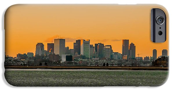 Boston Ma iPhone Cases - Boston Sunset iPhone Case by Brian MacLean
