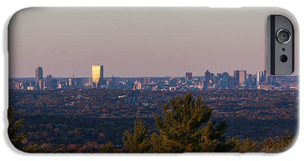 Boston Ma iPhone Cases - Boston Sunset from the Blue Hills iPhone Case by Brian MacLean