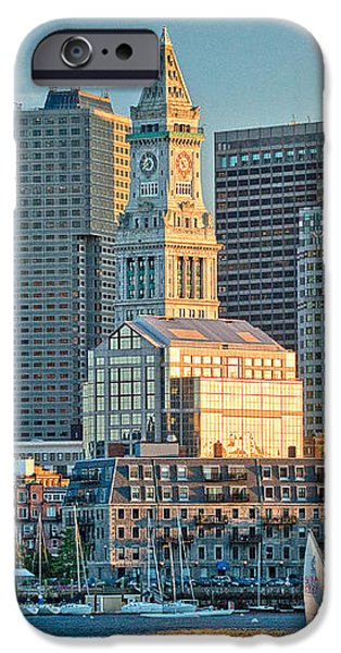Boston Sunset Sail iPhone Case by Susan Cole Kelly