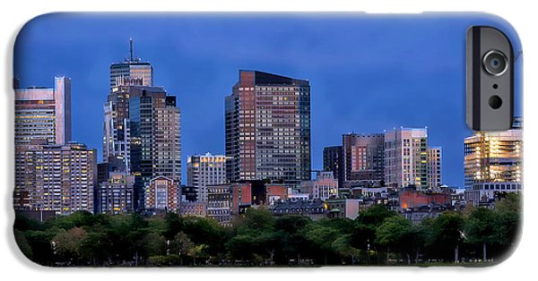 Boston Ma iPhone Cases - Boston Super Moon iPhone Case by Larry  Richardson