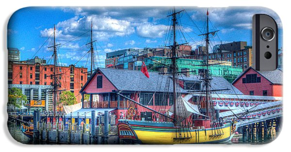 Tea Party iPhone Cases - Boston Tea Party Ship2 293 iPhone Case by Jeff Stallard