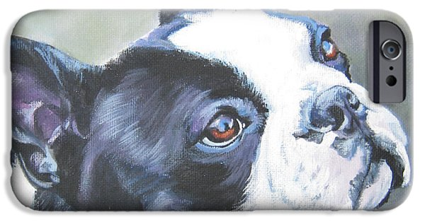 Boston iPhone Cases - boston Terrier butterfly iPhone Case by Lee Ann Shepard