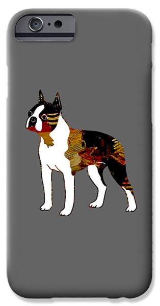 Boston iPhone Cases - Boston Terrier Collection iPhone Case by Marvin Blaine