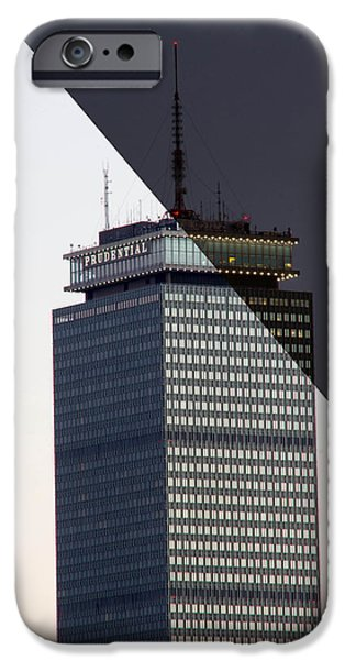 Boston Ma iPhone Cases - Boston Transitions - Prudential Center iPhone Case by Nick Cosky