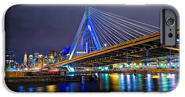 Boston Ma iPhone Cases - Boston Zakim Bridge iPhone Case by Larry  Richardson