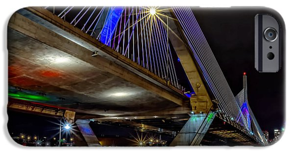 Boston Ma iPhone Cases - Boston Zakim  iPhone Case by Larry  Richardson