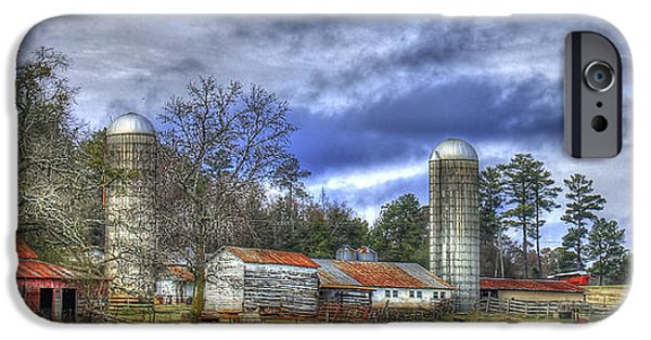 Old Barn iPhone Cases - Boswell Farm Greene County Georgia iPhone Case by Reid Callaway