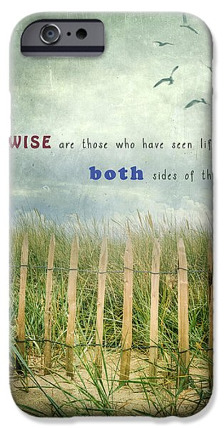 Sand Fences iPhone Cases - Both Sides Of The Fence iPhone Case by Joana Kruse