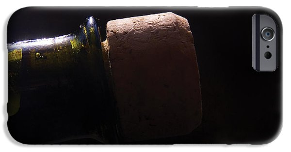 Wine Bottles Photographs iPhone Cases - bottle top and Cork iPhone Case by Steve Somerville