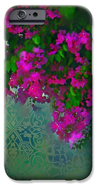 Bougainville Delight iPhone Case by Seema Sayyidah