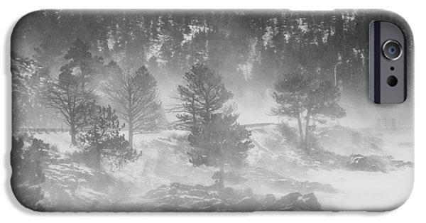 Nederland iPhone Cases - Boulder Canyon and Nederland Winter Landscape iPhone Case by James BO  Insogna