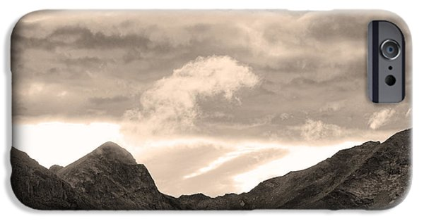 Lightning Photographer iPhone Cases - Boulder County Indian Peaks Sepia Image iPhone Case by James BO  Insogna
