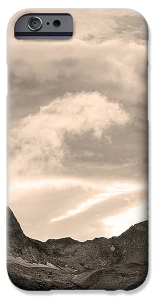 Boulder County Indian Peaks Sepia Image iPhone Case by James BO  Insogna