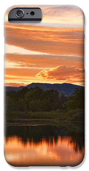 Stock Images iPhone Cases - Boulder County Lake Sunset Vertical Image 06.26.2010 iPhone Case by James BO  Insogna