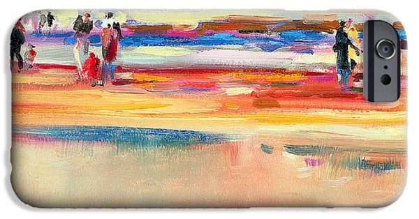 On The Beach iPhone Cases - Boulevard de Boudin iPhone Case by Peter Graham