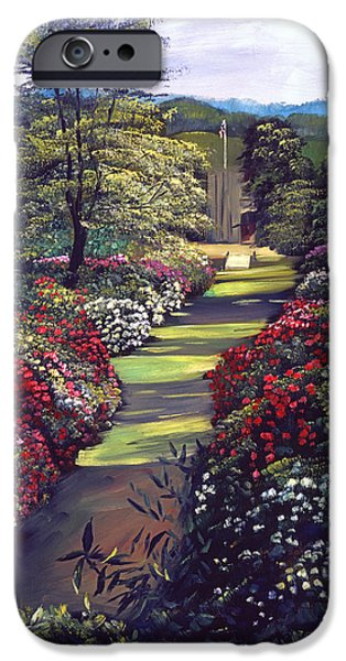Pathway iPhone Cases - Boulvevard Of Rhododendrons iPhone Case by David Lloyd Glover
