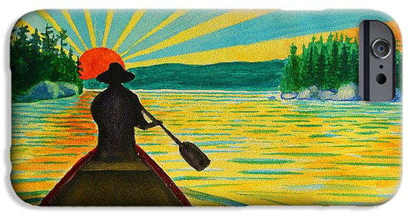 Canoe iPhone Cases - Boundary Waters Canoe Area iPhone Case by Steve Heriot