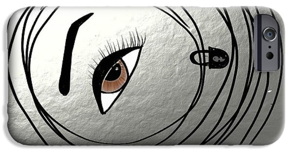 Conservative Paintings iPhone Cases - Bounded and the Blinded iPhone Case by M Jf