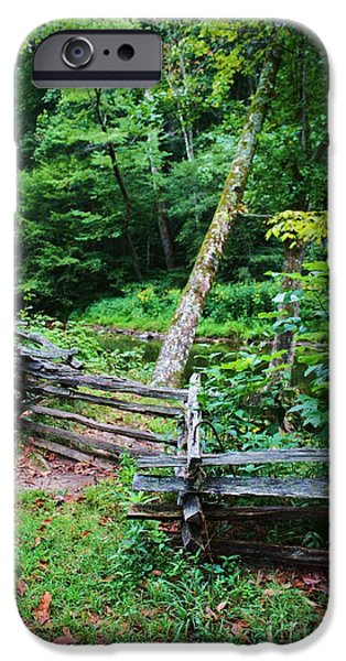 Pathway iPhone Cases - Boundries iPhone Case by Chuck  Hicks