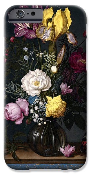 Painter Photographs iPhone Cases - BOUQUET of FLOWERS in a VASE  1621 iPhone Case by Daniel Hagerman