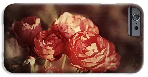 Texture iPhone Cases - Bouquet of Roses iPhone Case by Debbie Nobile