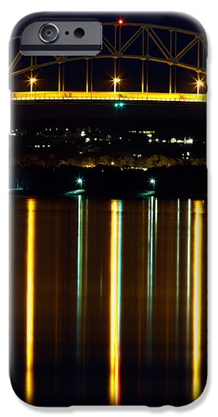 Bourne Bridge at Night Cape Cod iPhone Case by Matt Suess