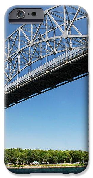 Bourne Bridge  Cape Cod iPhone Case by Mark Wiley