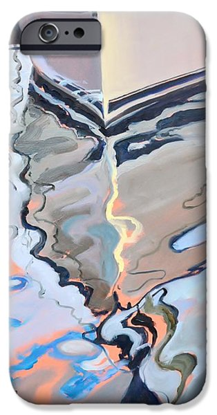 Abstract Seascape iPhone Cases - Bow Reflected iPhone Case by Donna Tuten