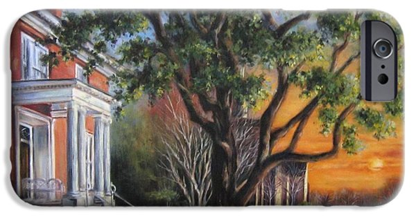 Yorktown Virginia Paintings iPhone Cases - Bowden Armistead House iPhone Case by Gulay Berryman