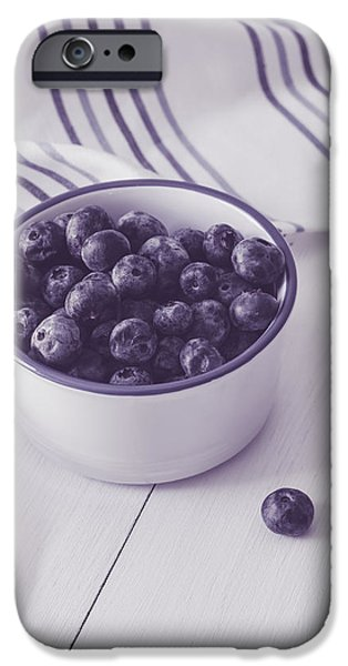 Berry iPhone Cases - Bowl of Blueberries iPhone Case by Kim Hojnacki