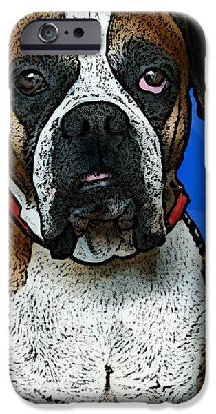 Boxer iPhone Case by Bibi Romer