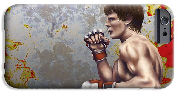 Boxer Digital Art iPhone Cases - Boxer iPhone Case by Jason Pickens