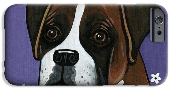 Boxer iPhone Cases - Boxer iPhone Case by Leanne Wilkes