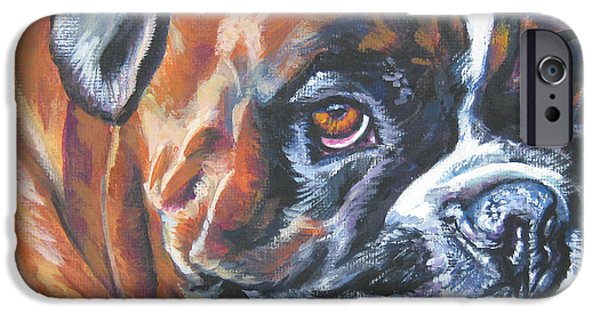 Boxer Paintings iPhone Cases - Boxer Tennis iPhone Case by Lee Ann Shepard