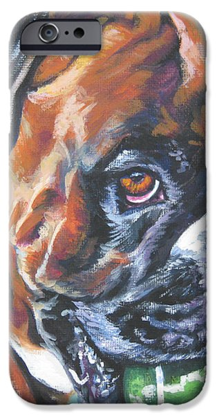 boxer tennis iPhone Case by Lee Ann Shepard