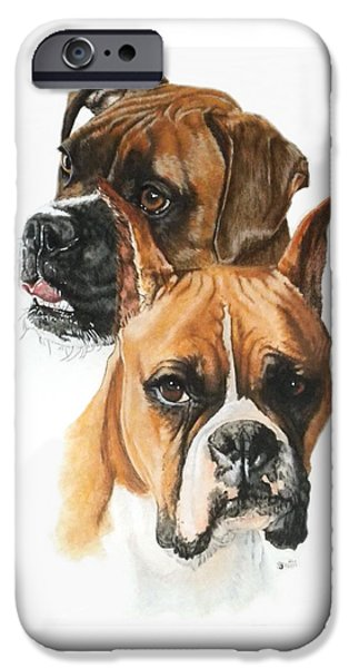 Boxers iPhone Case by Barbara Keith