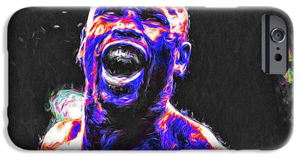 Jab iPhone Cases - Boxing Floyd Money Mayweather Painted iPhone Case by David Haskett