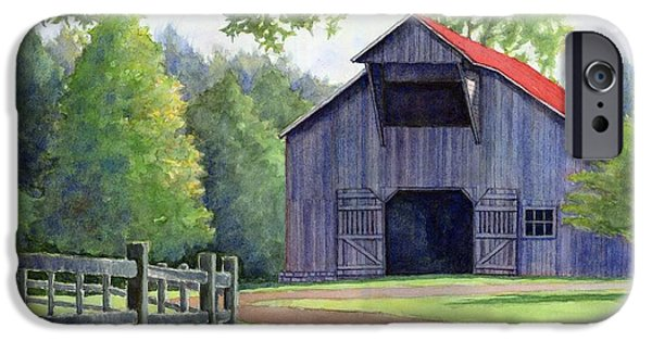 Leipers Fork iPhone Cases - Boyd Mill Barn iPhone Case by Janet King