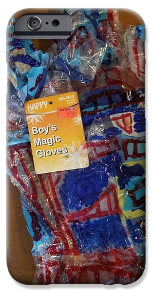 Glove Sculptures iPhone Cases - Boys Magic glove two iPhone Case by William Douglas