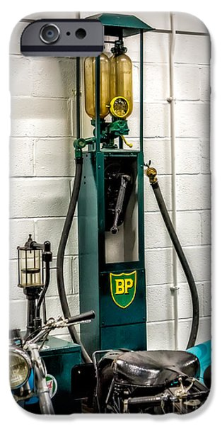 Antiques iPhone Cases - BP Gas Pump iPhone Case by Adrian Evans
