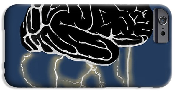 Thinking iPhone Cases - Brainstorm, Conceptual Illustration iPhone Case by Spencer Sutton
