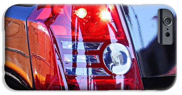 Blue Abstracts iPhone Cases - Brake Light 65 iPhone Case by Sarah Loft