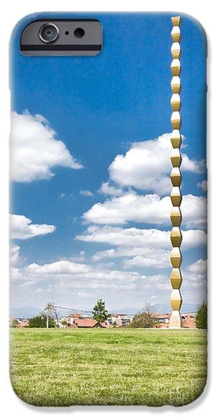 Brancusi's Infinite Column iPhone Case by Gabriela Insuratelu