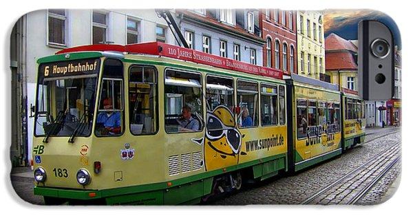 Town iPhone Cases - Brandenburg Streetcar iPhone Case by Anthony Dezenzio