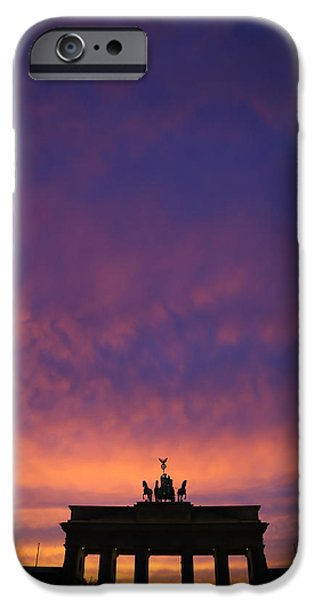 Built Structure iPhone Cases - Brandenburger Tor in Berlin iPhone Case by Marco Scisetti