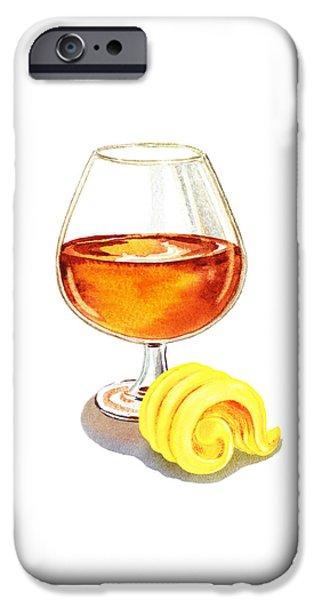 Nature Study Paintings iPhone Cases - Brandy Butter iPhone Case by Irina Sztukowski